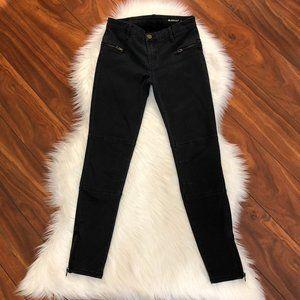 BLANKNYC Black Moto Zipped Ankle Skinny Jeans 27